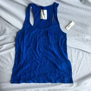 NWT Gilly Hicks Blue Tank Top with Pocket